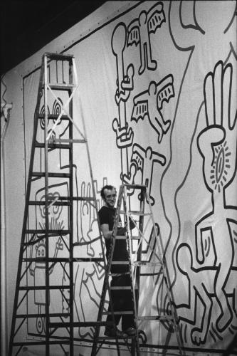 American artist Keith Haring was best known for his graffiti-inspired drawings