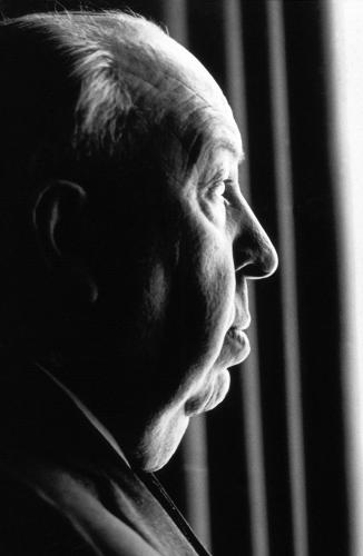 Alfred Hitchcock photographed in 1966 Sonic Editions print