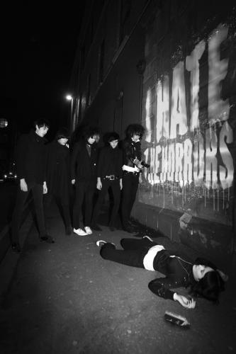 The Horrors photographed in 2007.
