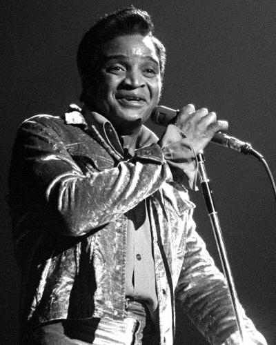 Jackie Wilson photographed on stage in Detroit.