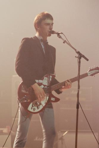 Paul Weller on stage with the Jam