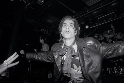 Perry Farrell of Jane's Addiction on stage in Amsterdam.