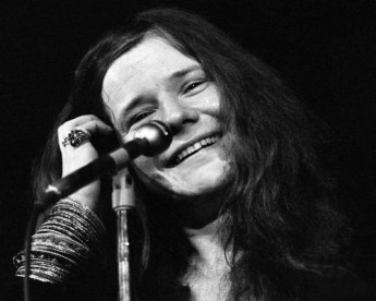 Janis Joplin smiles into the crowd during a performance in 1970.