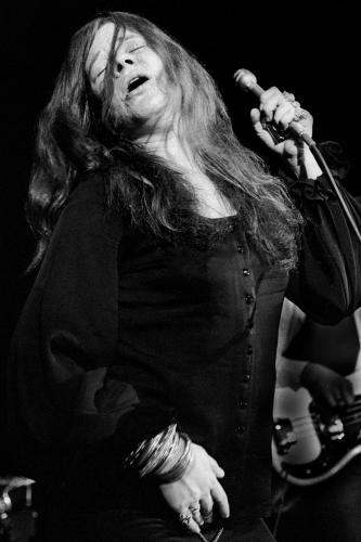 Janis Joplin photographed on stage in 1970.