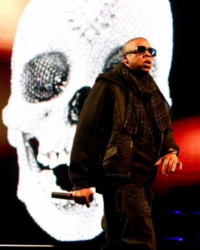 Jay Z at Glastonbury 2008.
