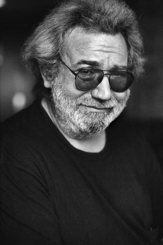 Jerry Garcia photographed at the Four Seasons Hotel in Washington DC 1989.