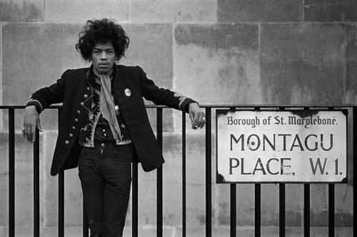 Jimi Hendrix on Montagu Place