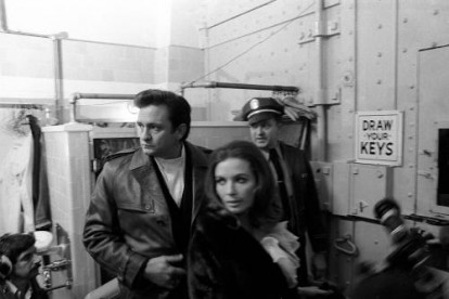 'Johnny Cash at San Quentin' - Johnny Cash and June Carter Cash entering San Quentin.