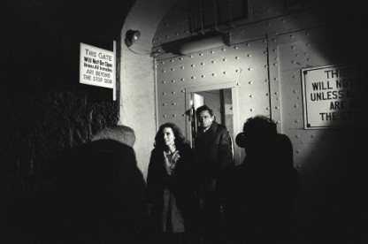June Carter Cash and Johnny Cash exiting San Quentin Prison