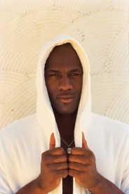 A casual portrait of Chicago Bulls player Michael Jordan at the Mafair Hotel, Coconut Grove, Florida.