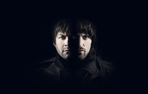 Tom Meighan and Serge Pizzorno of Kasabian shot in Street Studios