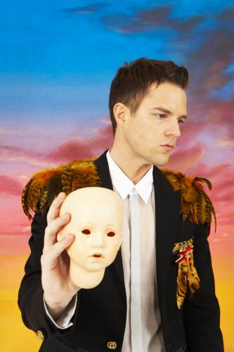 Brandon Flowers of The Killers photographed for the NME by Dean Chalkley