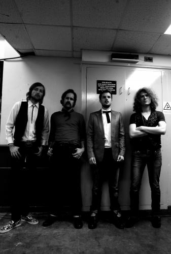The Killers backstage photographed for the NME by Andy Willsher