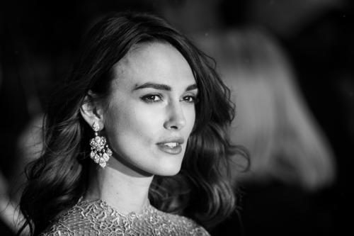 Keira Knightley photographed at the Imitation Game Premiere.