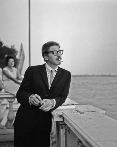 American actor Burton Stephen 'Burt' Lancaster looking at the lagoon