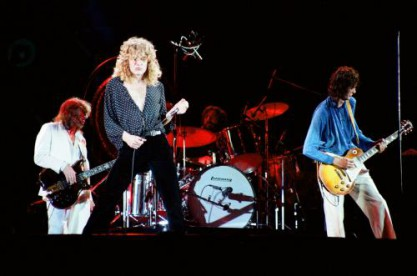 The last Led Zeppelin concert with the original line-up in the UK - the legendary second night at Knebworth with over 200