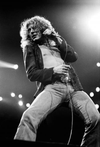 Robert Plant of Led Zeppelin 1977.