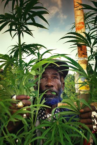Lee Scratch Perry photographed for Loaded Magazine at  Lake Geneva