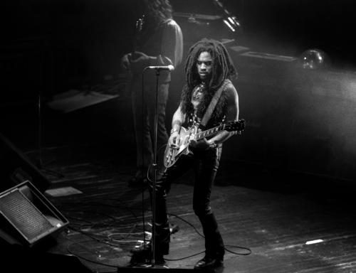 Singer Lenny Kravitz performs at the Riviera Theater in Chicago