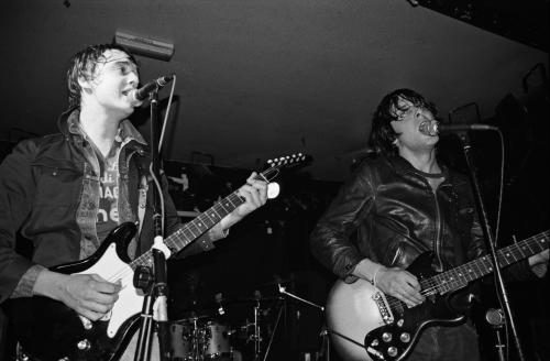 Pete Doherty and Carl Barat of The Libertines live at The Charlotte in Leicester