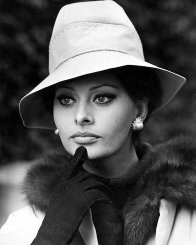 Sophia Loren pictured looking thoughful