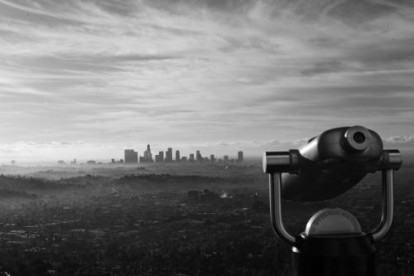 A stunning view of Los Angeles City.