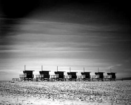 Beach huts on Venice Beach