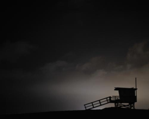 Venice Beach photographed at night by Stephen Albanese Sonic Editions print