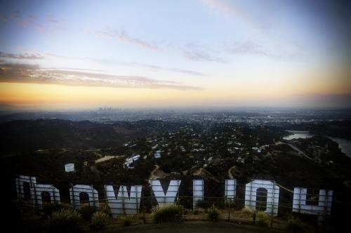 The view from the Hollywood sign