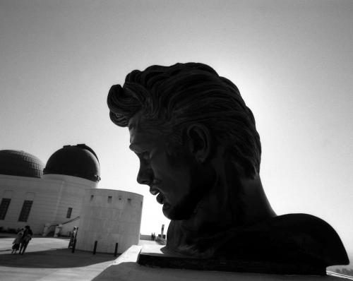 The bust of James Dean at Griffith Observatory. The observatory was featured in Rebel Without a Cause Sonic Editions print