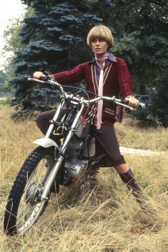 English actress Joanna Lumley in her role as Purdey in the TV adventure series 'The New Avengers'