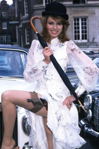 English actress Joanna Lumley in her role as Purdey in the TV adventure series 'The New Avengers' in 1976.
