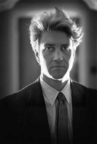 David Lynch photographed in the Savoy Hotel