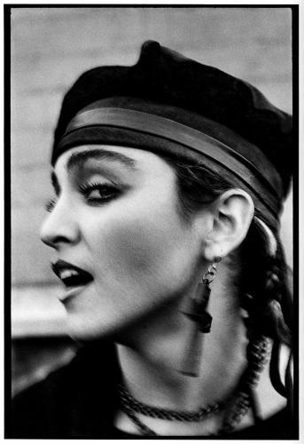 Madonna photographed on her first visit to London