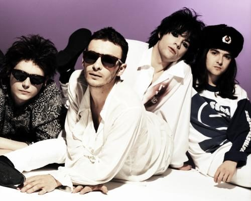 The Manic Street Preachers in London 1993. (L-R) Nicky Wire