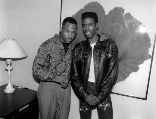 Comedians and actors Martin Lawrence and Chris Rock
