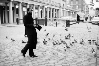 Marvin Gaye in Covent Garden, London, February 1981.  His final LP for Motown, In Our Lifetime, was released the previous month.  Marvin recorded a substantial part of the album at the Odyssey and AIR recording studios in 1980, when he was living in London.
