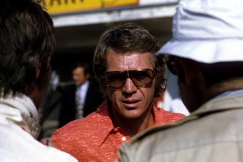 Steve McQueen during the folding of 'Le Mans in 1971.