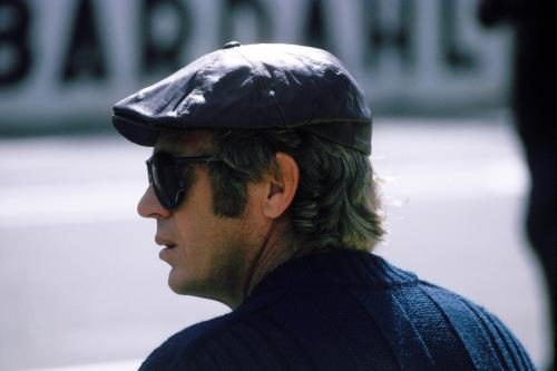 Steve McQueen (1930 - 1980) at the race track at Le Mans