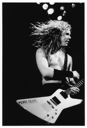 James Hetfield of Metallica on stage in New York 1988.