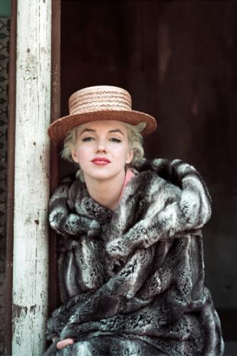 Milton took this image of Marilyn in 1956 during the filming of Bus Stop, a film they produced as well.