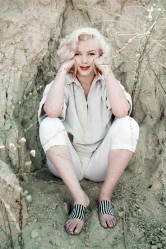 Marilyn Monroe photographed during a shoot with Milton H. Greene