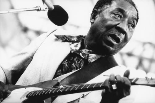 Muddy Waters photographed in 1982.
