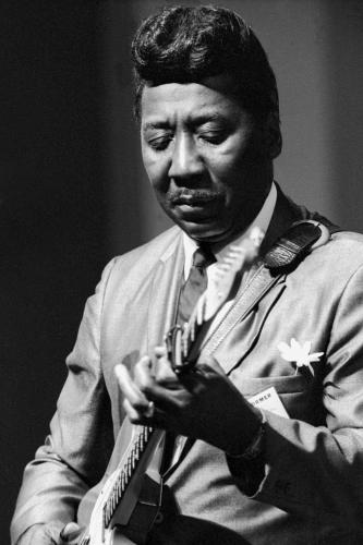 Muddy Waters performing on stage at Newport