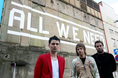Muse photographed by Andy Willsher for the NME. L-R Matthew Bellamy