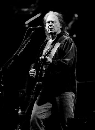 Neil Young at Glastonbury 2009.