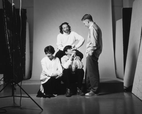 New Order photographed in Manchester in 1993.