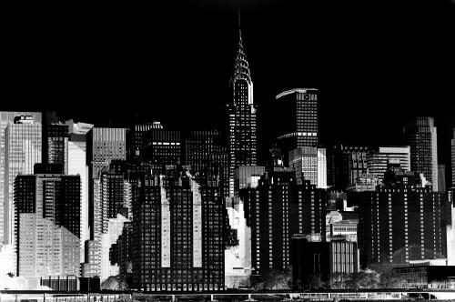 The Chrysler Building and the New York City skyline photographed by Stephen Albanese in 2013 Sonic Editions print