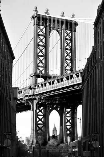The Manhattan Bridge photographed by Stephen Albanese in November 2013 Sonic Editions print