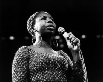 Nina Simone photographed on stage at The Newport Jazz Festival